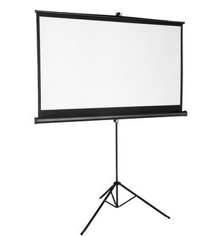 White-coloured projector screen