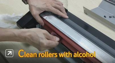 Clean the roller gently